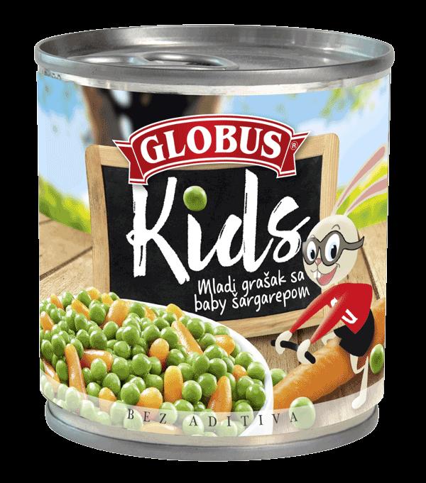 grašak i šargarepa za decu u konzervi